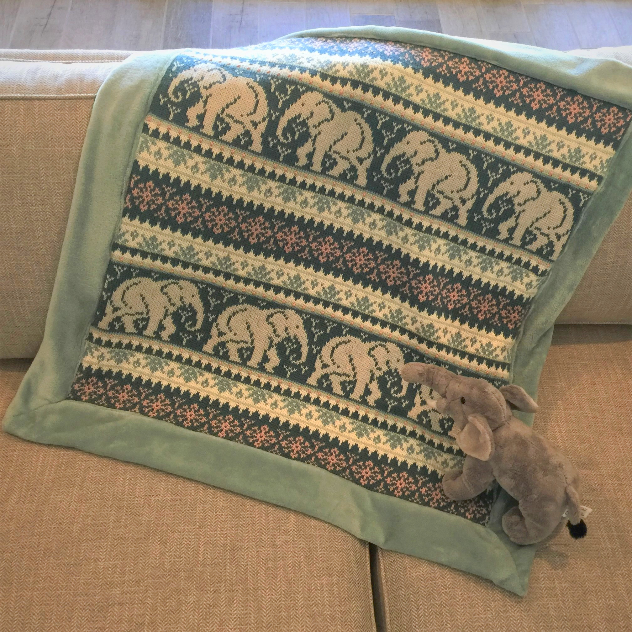 baby elephant blanket knitting pattern